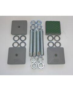 4 Maschinenfüße 85x85, M20x150 grau NEU Fräsmaschine / Drehmaschine