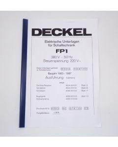 Elektrische Unterlagen (Schaltplan) Deckel FP1 ab Bj.83-87