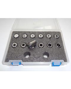 Spannzangensatz (Rl. 0,008mm) ER20 Zwischengrößen D1,5 - D12,5mm (PBox)