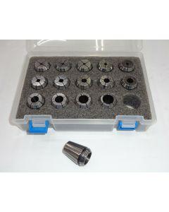 Spannzangensatz (Rl. 0,008mm) ER25 Gewindebohrer M02-M22 (PBox) Deckel