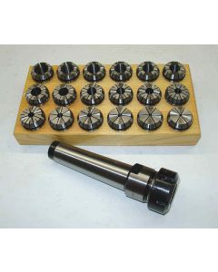 Spannzangenfutter MK3 M12 ER32 Satz (RI. 0,008mm) 3-20 Holzsockel
