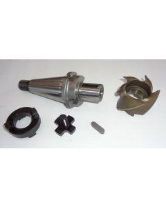 Kombiaufsteckdorn mit Fräser D60,0 gebr. SK40 S20x2 D27 für Deckel Fräsmaschine