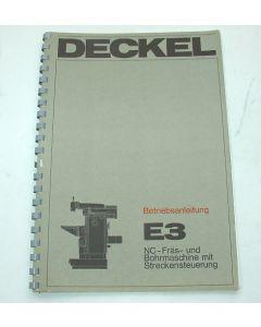 Betriebsanleitung Deckel Fräsmaschine FP E3