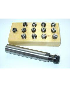 Spannzangenfutter zylindrisch ER11 20 L100 Satz (RI. 0,008mm) 1-7 Holzsockel