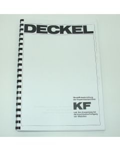 Betriebsanleitung Deckel KF Modellfräseinrichtung