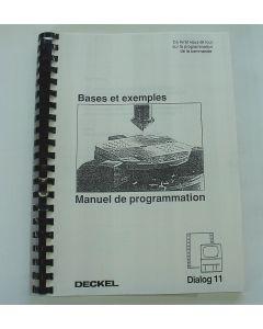 Manuel de programmation Deckel Dialog 11