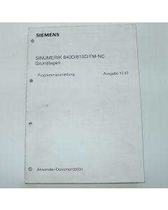 Programmieranleitung Sinumerik 840D/810D/FM-NC Grundlagen