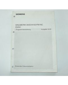 Programmieranleitung Sinumerik 840D/810D/FM-NC Zyklen