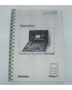 Control System Manual for Deckel Dialog 11