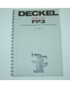 Betriebsanleitung Deckel FP3 aktiv, ab  Bj.78
