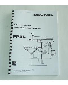 Betriebsanleitung Deckel Fräsmaschine FP3L,  bis Bj.75