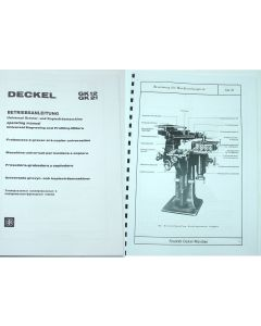 Betriebsanleitung Deckel GK12 / GK21,