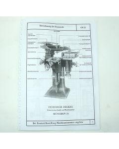 Ersatzteilplan Deckel GK12/21 bis Bj. 75
