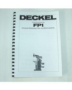 Betriebsanleitung Deckel FP1 2-Achsen aktiv, Bj.78-83