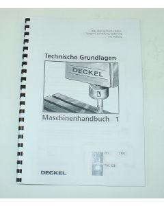 Betriebsanleitung 1, FP1 TNC123, ab Bj.90 für Deckel Fräsmaschine