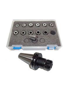 Spannzangenfutter SK40 DIN69871 ER20 (UM Schlüssel) Satz 2-13 RI max 8µm Pbox