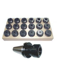 Spannzangenfutter SK40 DIN69871 ER32 (UM Schlüssel) Satz 3-20 RI max 8µm Holz