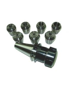 Spannzangenfutter SK40 DIN69871 ER40 (UM Schlüssel) Spannzange 7Stk. RI max 8µm
