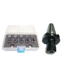 Spannzangenfutter SK40 DIN69871 ER16 (UM Schlüssel) Satz 1-10 RI max 15µm Pbox