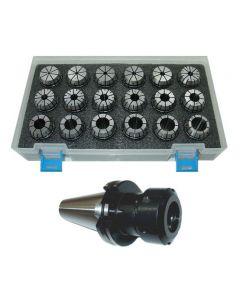 Spannzangenfutter SK40 DIN69871 ER32 (UM Schlüssel) Satz 3-20 RI max 15µm Pbox