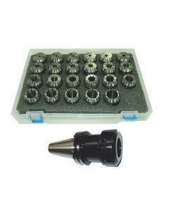 Spannzangenfutter SK40 DIN69871 ER40 (UM Schlüssel) Satz 4-26 RI max 15µm Pbox