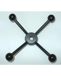Sterngriff 12mm Innenvierkant z.B. für Deckel Fräsmaschine