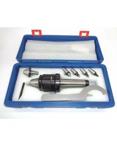 Mitlaufende Körnerspitze Satz MK4 (H-Schlüssel, 6 Spitzen) für Drehmaschinen