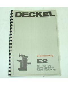 Betriebsanleitung Deckel Fräsmaschine FP2 E2