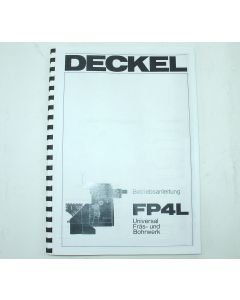 Betriebsanleitung Deckel FP4L