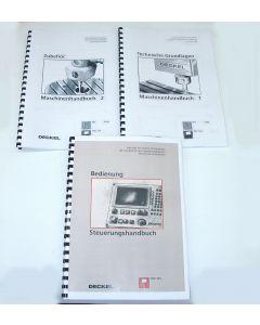 Betriebsanleitung Satz, FP1 TNC123, ab Bj.90 für Deckel Fräsmaschine