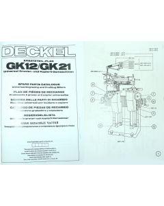 Ersatzteilplan Deckel GK12/21.