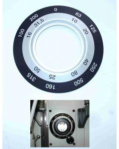 Schild für Vorschubgetriebe neu für Deckel FP1  Fräsmaschine
