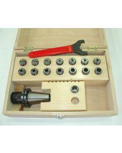 Spannzangenfutter SK40 DIN69871 ER25 Satz (Rl. 0,008mm) 2-16 Holzkasten UM
