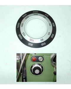 Schild für Hauptgetriebe neu für Deckel FP3  Fräsmaschine