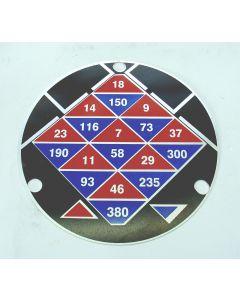 Schild für Vorschubgetriebe neu für Macmon ALG200  Fräsmaschine