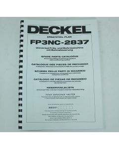 Ersatzteilplan Deckel Fräsmaschine FP3NC 2837