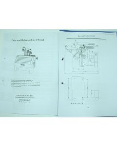 Betriebsanleitung Deckel Fräsmaschine FP2LB