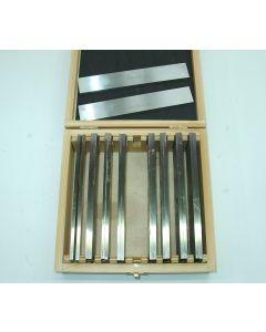 Parallelleistensatz - Parallelunterlagen 160x4 mm 9 Satz, Deckel  Fräsmaschine