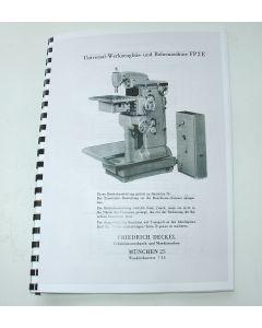 Betriebsanleitung Deckel Fräsmaschine FP2 E
