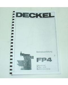 Betriebsanleitung  FP4 2700 für Deckel Fräsmaschine