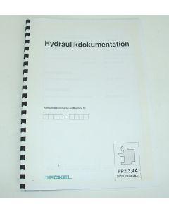 Hydraulikdokumentation für Deckel Fräsmaschine FP2A,FP3A,FP4A