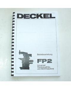 Betriebsanleitung Deckel Fräsmaschine FP2, ab  Bj.78