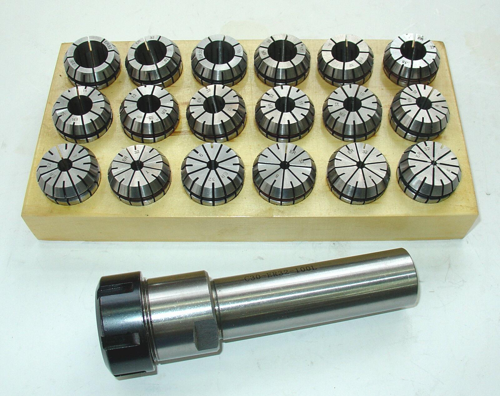 D30 Spannzangenfutter zylindrisch ER25 L100