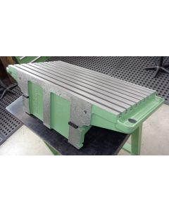 Feststehender Winkeltisch Nr.1652 für Deckel FP3 Fräsmaschine, grün, neuwertig