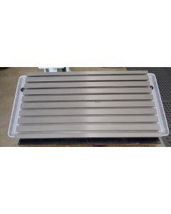Feststehender Winkeltisch grau überholt (2495) für Deckel FP3 Fräsmaschine
