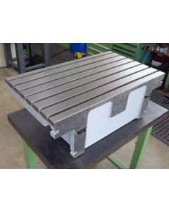 Feststehender Winkeltisch grau neuw. (18121) für Deckel FP4M Fräsmaschine