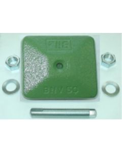 1 Maschinenfuß 60x60, M10x100 grün NEU Fräsmaschine / Drehmaschine