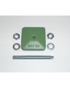 1 Maschinenfuß 60x60, M12x100 grün NEU Fräsmaschine / Drehmaschine