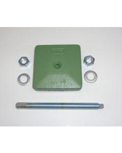 1 Maschinenfuß 85x85 M12x150 grün z.B. für Deckel FP1 Fräsmaschine
