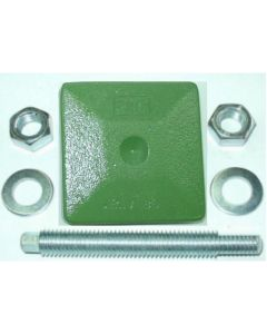 1 Maschinenfuß 85x85 M16x100 grün NEU z.B. für Deckel FP2 Fräsmaschine